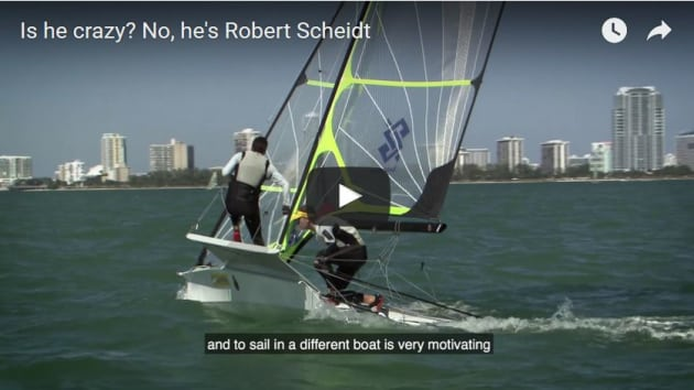 Screenshot from the Scheidt 49er video.