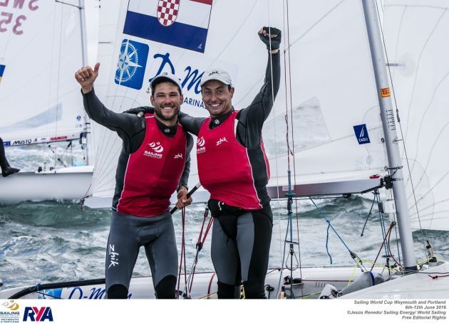 Sime Fantela and Igor Marenic. Photo Jesus Renedo/Sailing Energy/Sailing World Cup