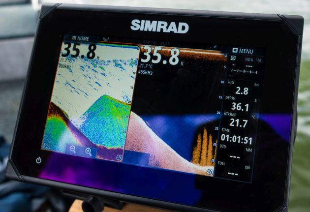 Simrad's GO7 packs a lot of features in a small affordabale unit.