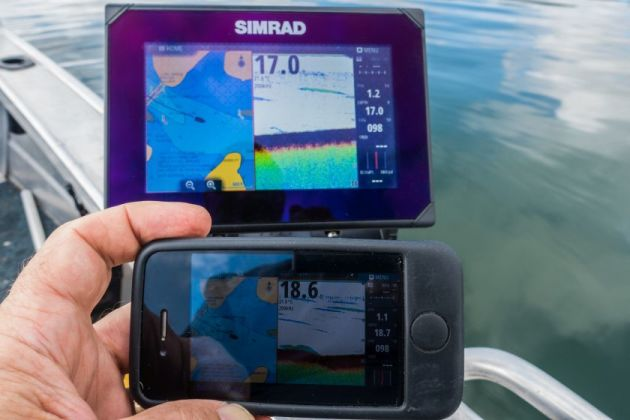 The clever wi-fi connectivity allows you to use a smartphone to intergrate screen data. Useful on larger boats!