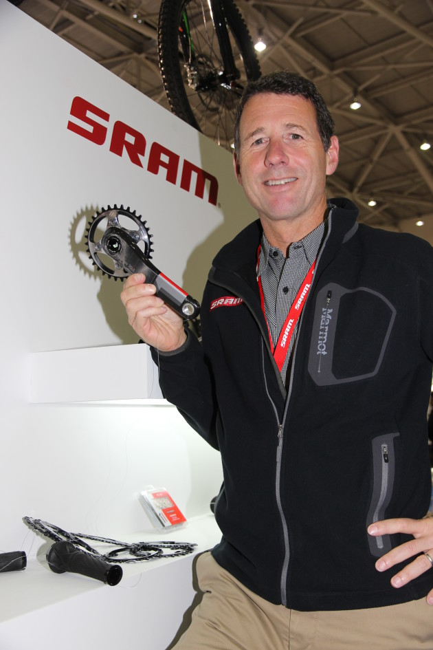 Stan Day considers their 1x single chain ring mountain bike drivetrain system to be one SRAM's breakthrough product innovations.