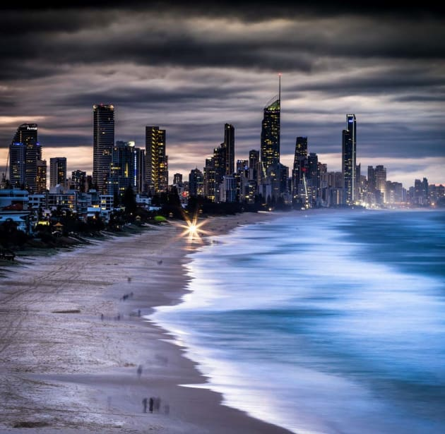 Surfers Paradise from Burleigh Heads by Mark Lloyd