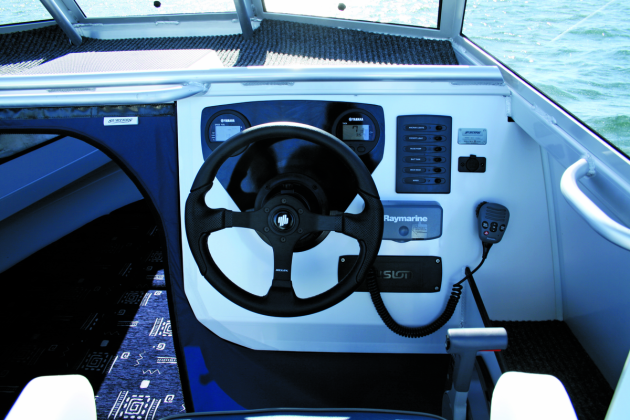 The roomy dash would accommodate a large screen sounder.