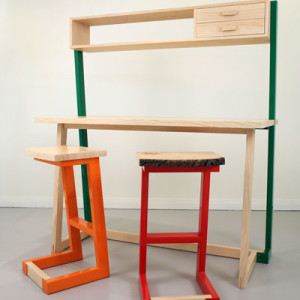 David O'Brien and Jason Moore, table and stools