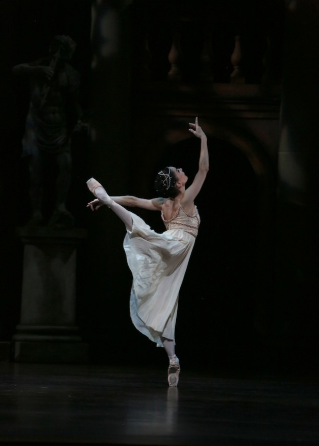 Tamara Rojo as Juliet.  Photo: David Kelly.