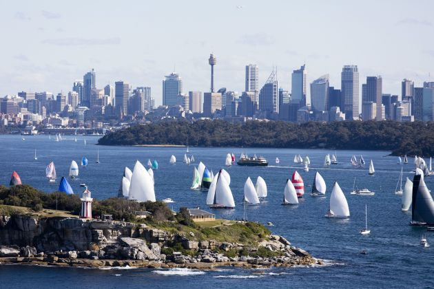 The fleet off South Head last year. Photo credit Andrea Francolini, CYCA