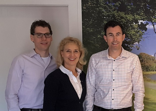 E-stralian is a small but well qualified team. In addition to Thijs van der Heijden (left), Ellen te Riele (centre) has an international banking background and Kent Kavanagh has 15 years' experience in asset finance and other financial services.