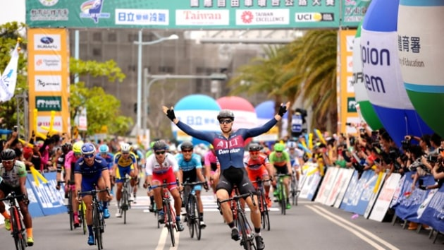 Victory for Brenton at Stage 5 of the 2017 Tour of Taiwan. Image: Terry Hsiu.