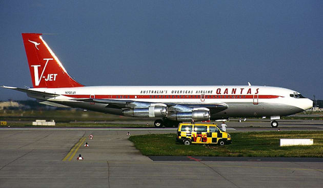 John Travolta's Qantas Boeing 707 is heading for a new home at Albion park, NSW. (Konstantin von Wedelstaedt)