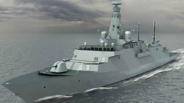 Early designs of the Type 26 with the Artisan radar clearly visible at masthead. Credit: BAE Systems