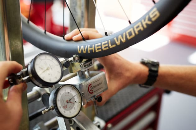 A wheel won't leave the Wheelworks workshop unless it true to within one-tenth of a millimetre. www.josephkelly.com