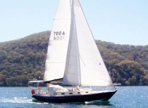 Wilparina, at 33ft is the smallest boat in the 2013 Sydney-Hobart. Photo supplied by owner.