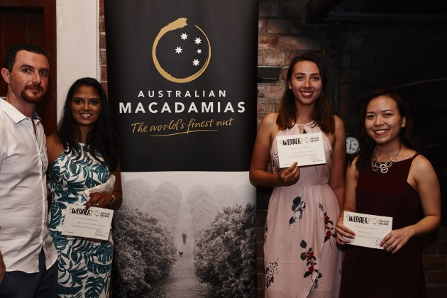 Winners Adeline Wong in the professional category, Kinga Wojciechowski in the student category, and Ashna Gobin and Leonardo Bohorquez in the team category.