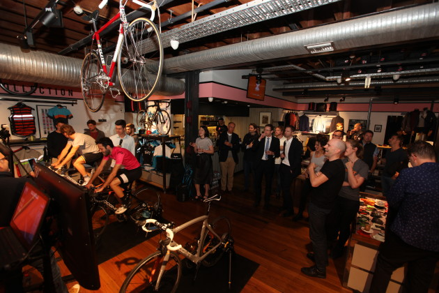 A section of the audience who attended the Zwift launch on Friday evening 15th May.