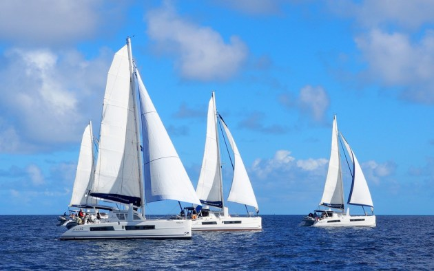 A fun race to Mato Island. Photo Mariner Boating Holidays.