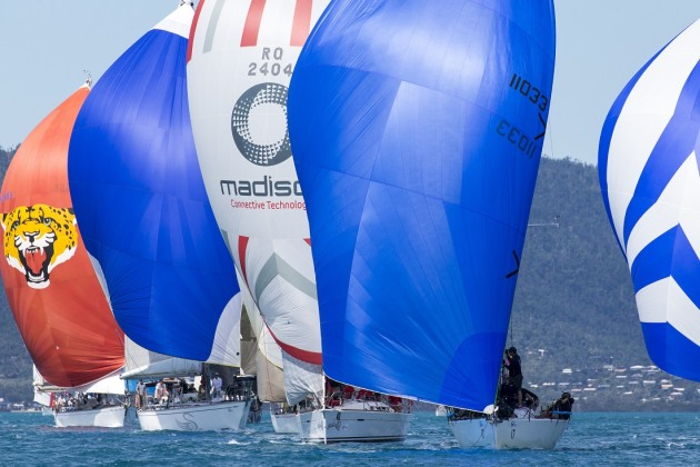 A spot of downwind competition - Andrea Francolini pic - ABRW