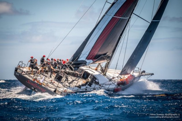The race gave the 100 footer Scallywag a chance to stretch her legs before the next big race in June - Transatlantic Race from Newport, Rhode Island to the UK © https://www.sailing-photography.com.