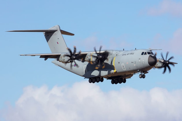 The Royal Air Force showed up with their Airbus A400. (Phil Hosking)