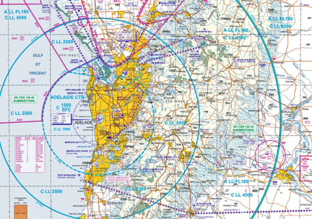 CASA is reviewing the airspace within 30 nm of Adelaide Airport. (Airservices Australia)