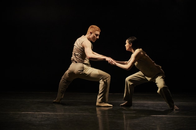 Adam Alzaim and Melissa McCabe in Adam Alzaim's where do I begin. Photo by Frances Andrijich.