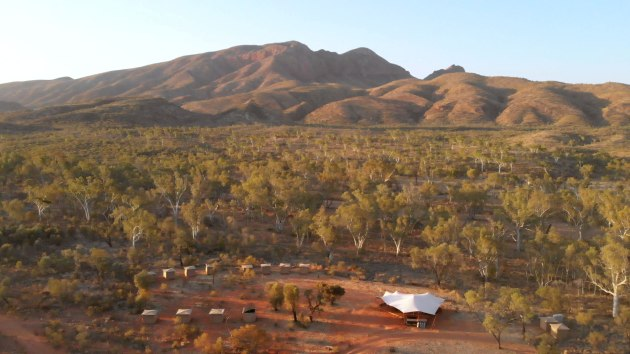 World Ex's Larapinta Trail campsite. Credit: Thomas Bywater.
