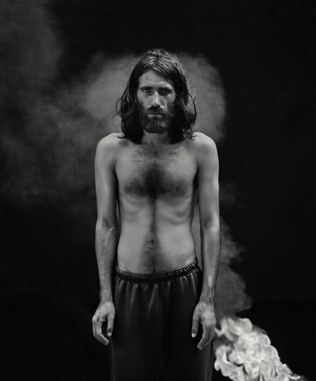 © Hoda Afshar. Portrait of Behrouz Boochani, Manus Island, 2018 from the series, Remain. Pigment inkjet print, 100cm x 86cm. Courtesy of the artist.