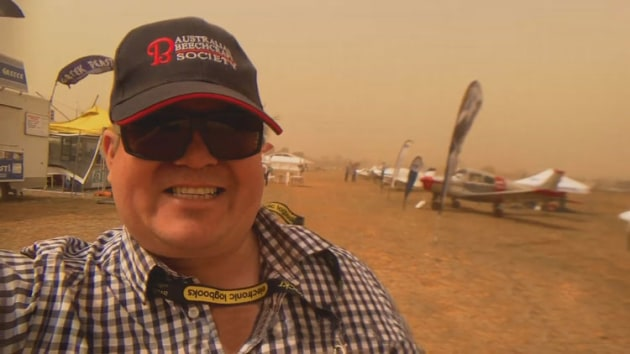 High winds and a severe dust storm have been blamed for a financial shortfall for AirVenture Australia 2019. (still from Australian Beechcraft Society video)