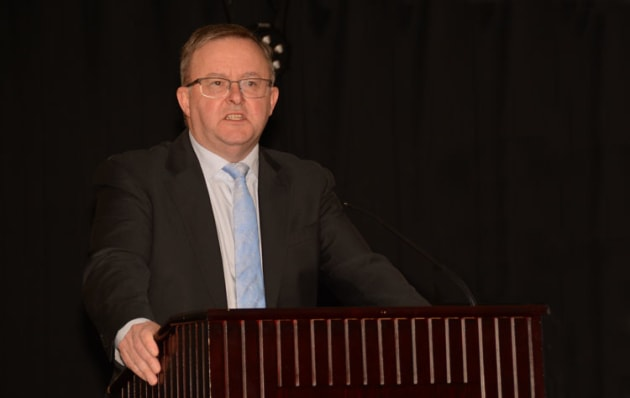 Shadow Minister for Transport Anthony Albanese backed the changes to the Civil Aviation Act in his speech to the AGAA summit in July 2018. (Steve Hitchen)