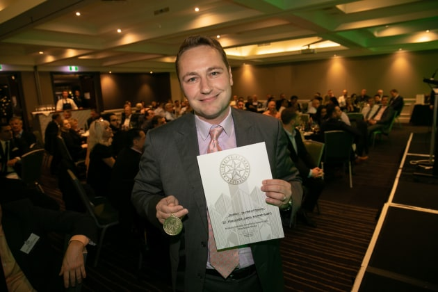 Double Gold: Aleks Lajovic, managing director of Impact International, wins at the NSW PICAs