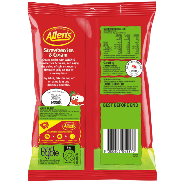 In Australia, Allen's lollies will receive new packaging this year.