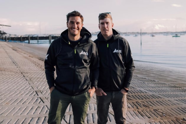 Tuke, left, and Burling today confirmed their intention to try to win Olympic gold at Tokyo 2020 as well as help Emirates Team New Zealand defend the America's Cup in 2021.