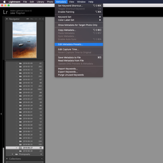 If you use Lightroom, setting up a metadata preset will let you add copyright information to every photo you import at the click of a button. Include as much or little information as you like!