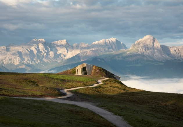Messner Mountain Museum Corones, South Tyrol, Italy, by Zaha Hadid Architects, photographed by Tom Roe.