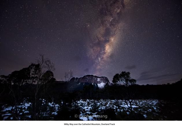 Astrophotography. Pine forest moor hut. Photo: Stephen Huang.