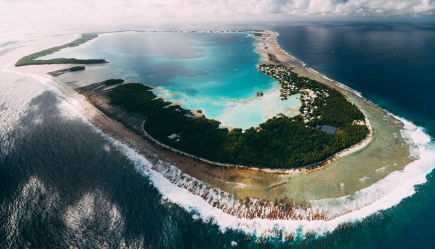 Atafu atoll, part of the Tokelau islands.