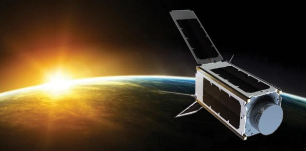 UNSW-EC0 cubesat in Earth's orbit. Credit: The Conversation via GeoSpatialWorld