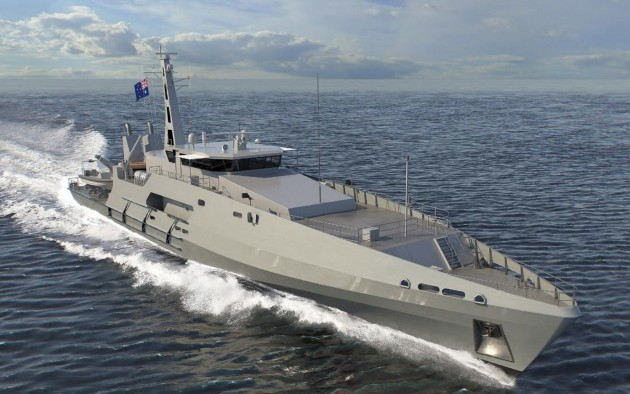 Six new Cape Class boats will be built for the RAN. (Austal)