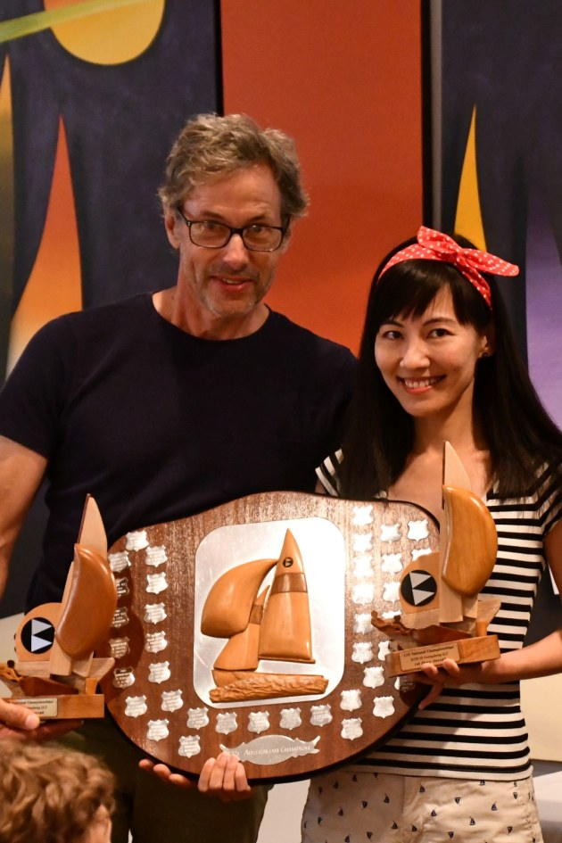 Australian Champions Presentation - Slow Boat - Jamie Thompson and Ning Xue.