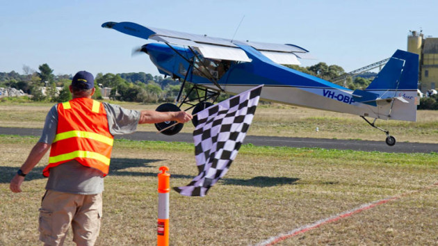 Brett Patton from NSW took out first place in the Bush Class in his home-built Just Aircraft SuperSTOL. (Australian STOL Championships)