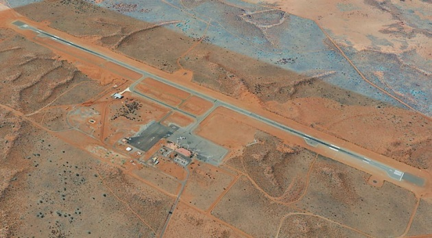Ayers Rock Airport is a CTAF beneath Class G airspace, but soon a trial may see that changed to Class E over the CTAF. (Google Earth image)