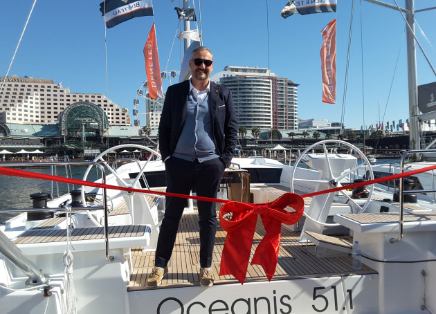 Beneteau joint general manager, Gianguido Girotti, was at SIBS to launch the Oceanis 51.1 in Australia.