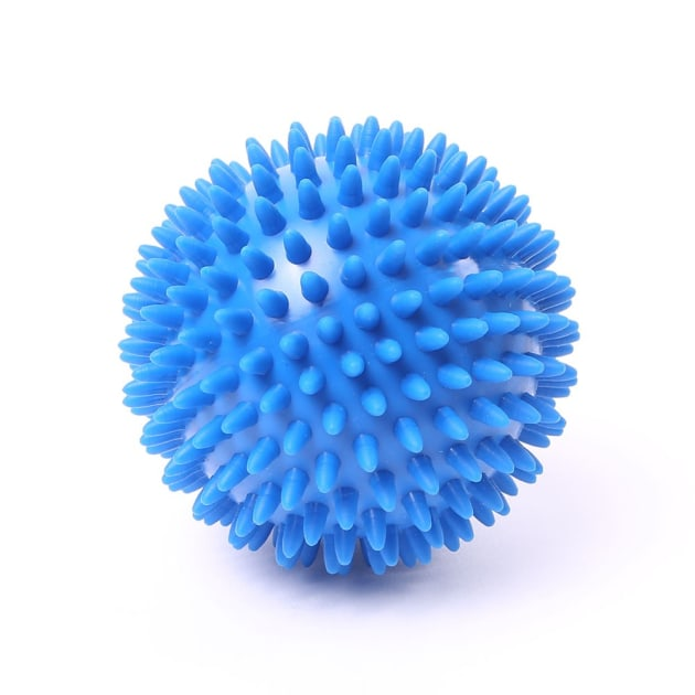 A spiky trigger point ball, a small outlay but wise investment for riders.