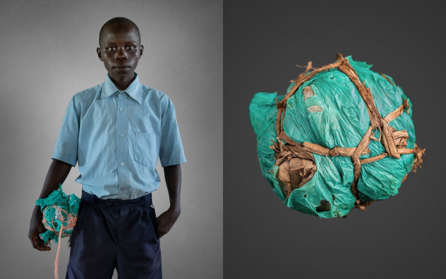 © Brian Hodges. Professional Winner – People. Odilo Lawiny - Handmade soccer balls.