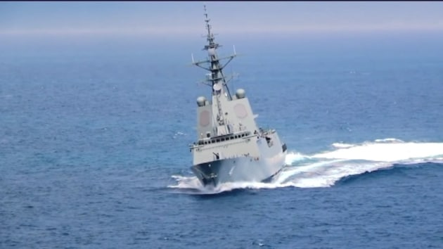 HMAS Brisbane will now sail to Sydney to formally enter service. Chris Pyne via Twitter