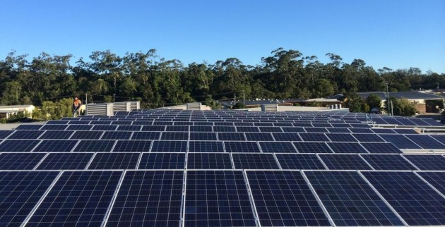 The 320-panel rooftop solar array consistently achieves energy savings of up to 30%.