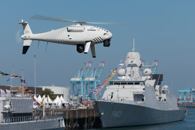 Camcopter trial for Belgium Navy