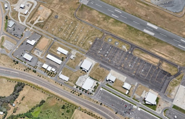 Canberra's GA section is currently in the Pialligo Precinct, but operators plan to shift it to the other side of the runway. (Google Earth image)
