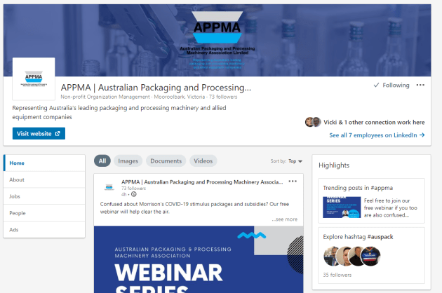 APPMA's LinkedIn page shares member news and content of interest to the wider industry.