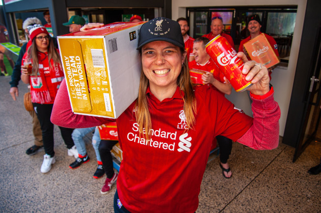 Kirsty Woodlands, an Adelaide Liverpool supporter