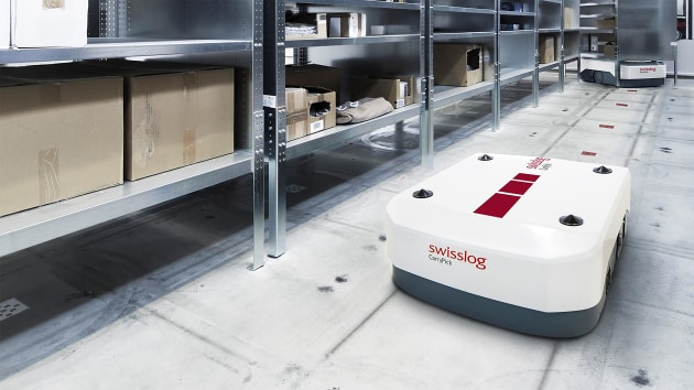 Long-term sustainability is further enhanced by automated materials handling technologies, such as this Automated Mobile Robot, which reduces product handling and subsequently contamination risk.